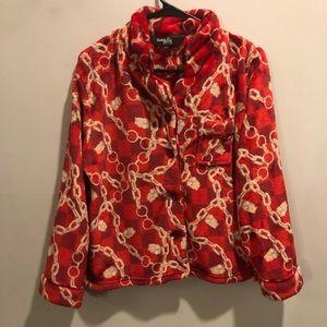 Rara Avis by iris apfel jacket red chains soft